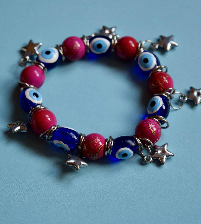 Evil Eye Bracelet By Lauraswanderingsoul On Etsy