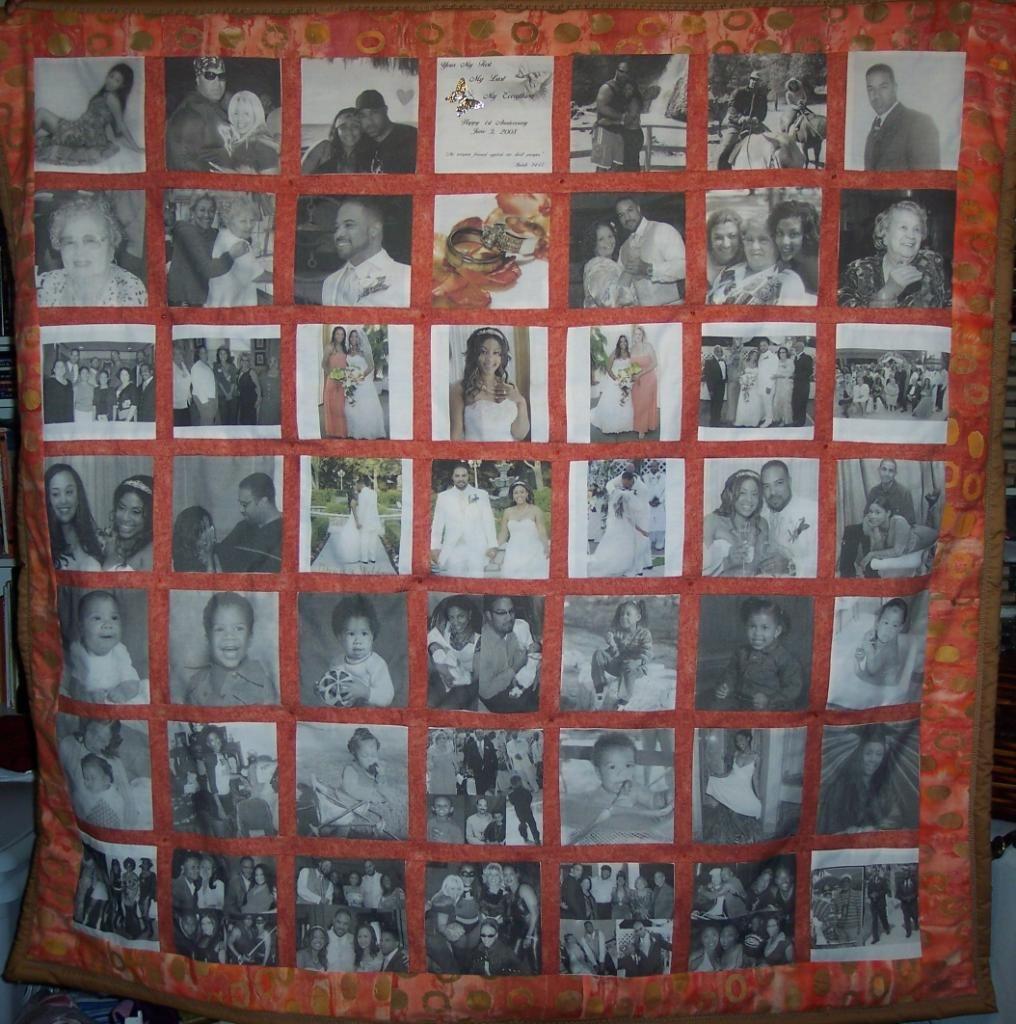 Memory Quilt...anniversary Gift