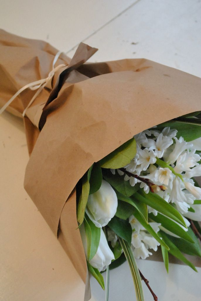 Paper Wrapped Boquet Wrap It Up Flowers Paper Gift Wrapping