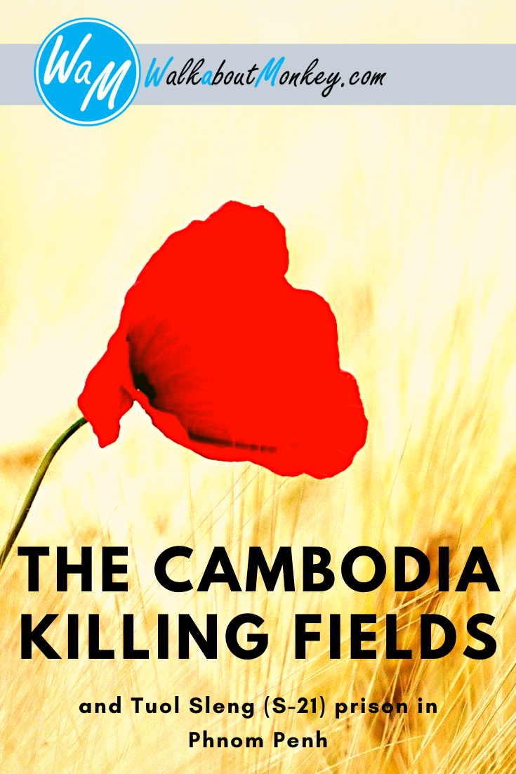 Follow the link in the image to learn about the gruesome events. Pay your respects to your Cambodian hosts at the Choeung Ek Killing Field and the Tuol Sleng Genocide Museum (former S-21 prison).    #Cambodia #PhnomPenh #KillingFields #tuolsleng #s21prison #genocidemuseum #khmerrouge #walkaboutmonkeydotcom #walkaboutmonkey #wamsea