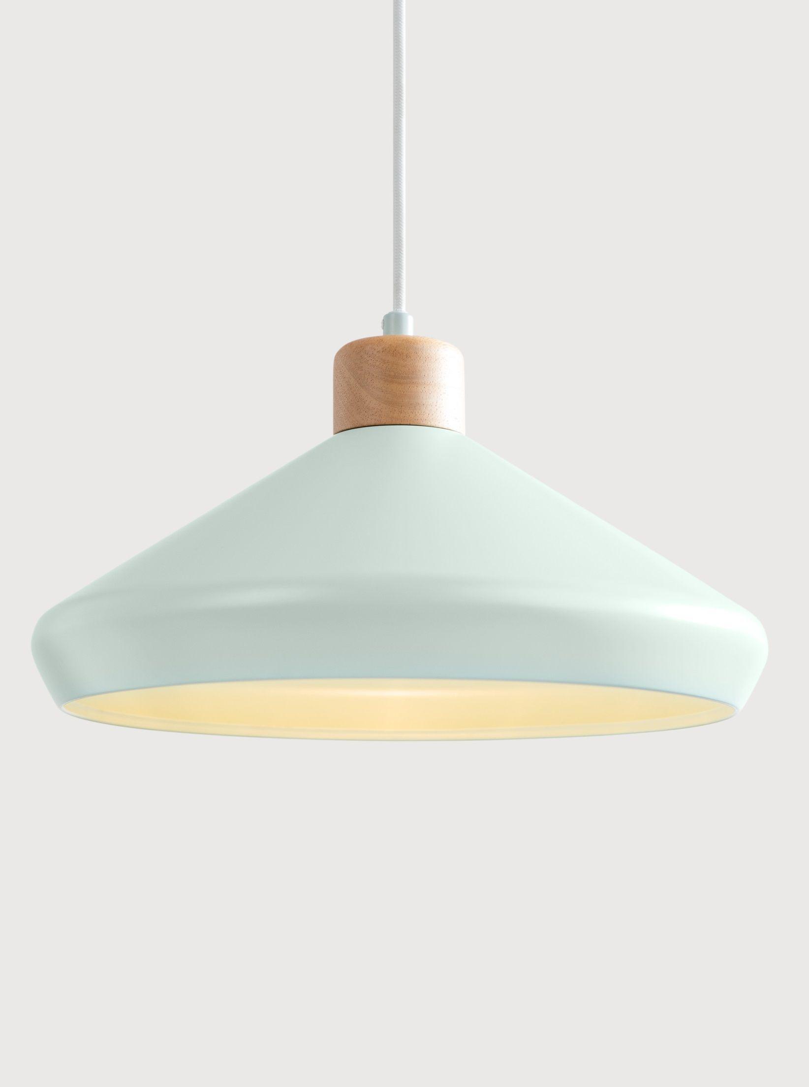 5d8a5c955c2 Duck Egg Blue Metal Wood Pendant Light