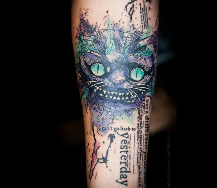 114897fbd Cheshire Cat abstract tattoo by Paul Talbot | tattooos | Tattoos ...