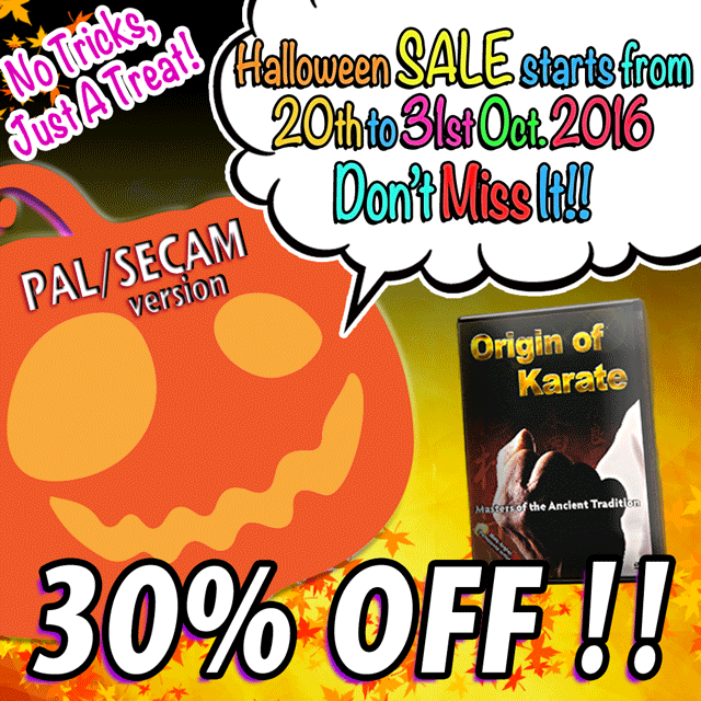 origin of karate dvd pal version halloween sale starts from 20th to