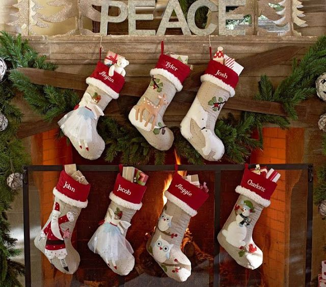 Personalised Christmas Stockings By Pottery Barn Kids