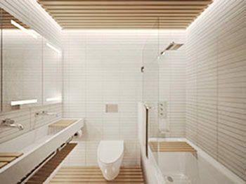 Architecture Workshop Sanctuary Project Bathroom With Wood Slat Ceiling