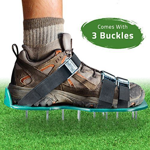 aerator shoes, lawn aerator shoes, spiked shoes, garden shoes ...