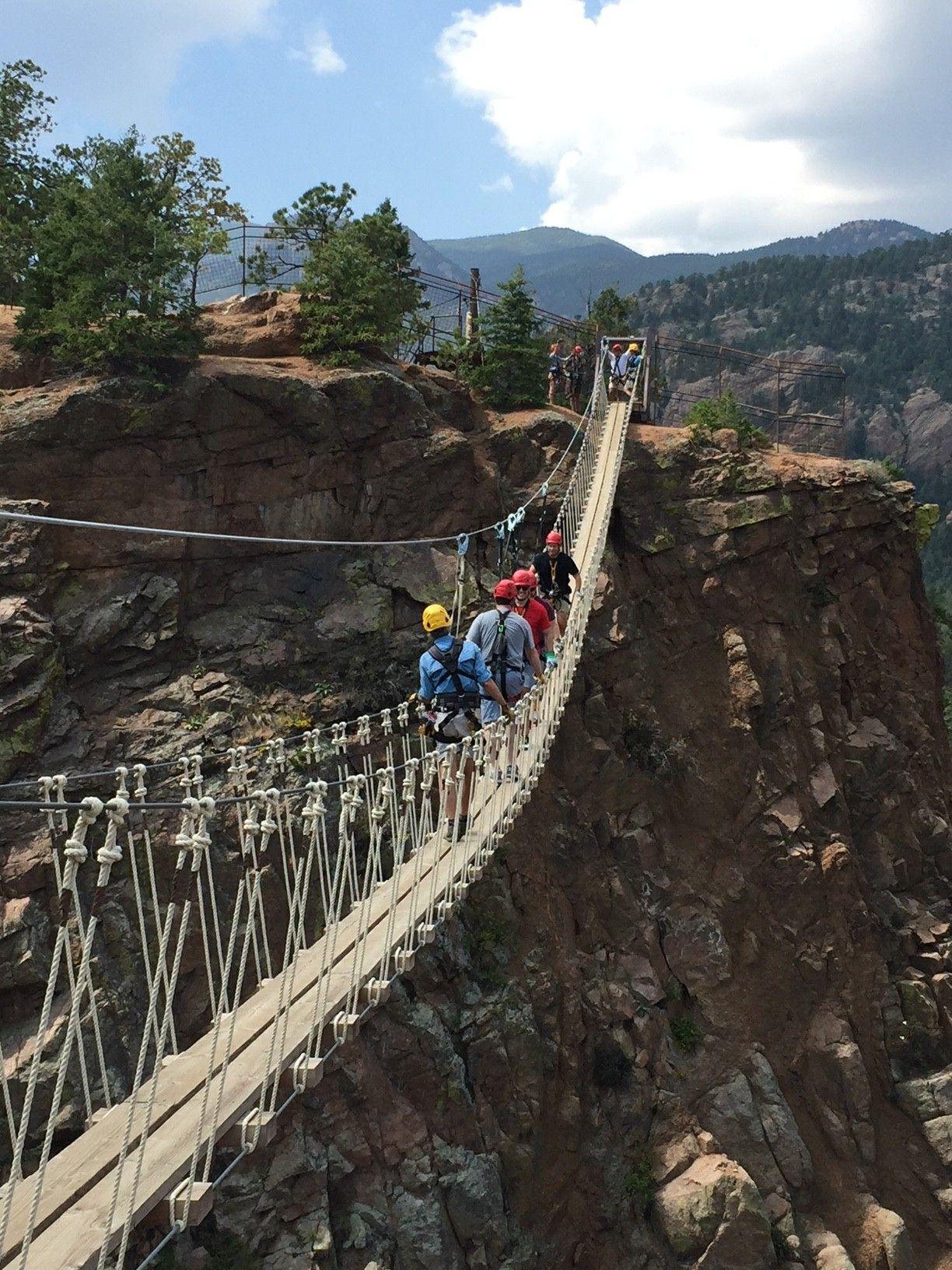 Check Out That Bridge Fins Course Colorado Springs Zipline Coloradosprings Ziplining Colorado Springs Rappelling