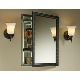 Kohler 20 In X 26 In Surface Recessed Oil Rubbed Bronze Mirrored Rectangle Medicine Cabinet Lowes Com Recessed Medicine Cabinet Medicine Cabinet Mirror Wall Mounted Medicine Cabinet Oil rubbed bronze medicine cabinet