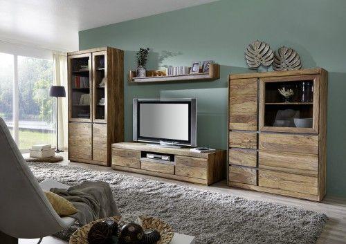 Ein Ganzes Wohnzimmer Aus Aufregenden Kontrasten Sheesham