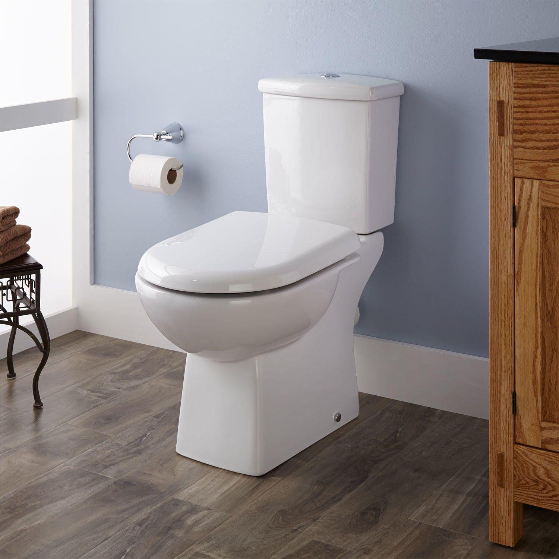 stapleton dualflush european rear outlet toilet two piece elongated