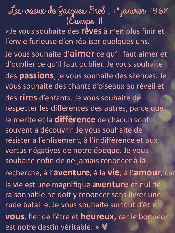Jacques Brel Jacques Brel Voeux Jacques Brel Et Citations