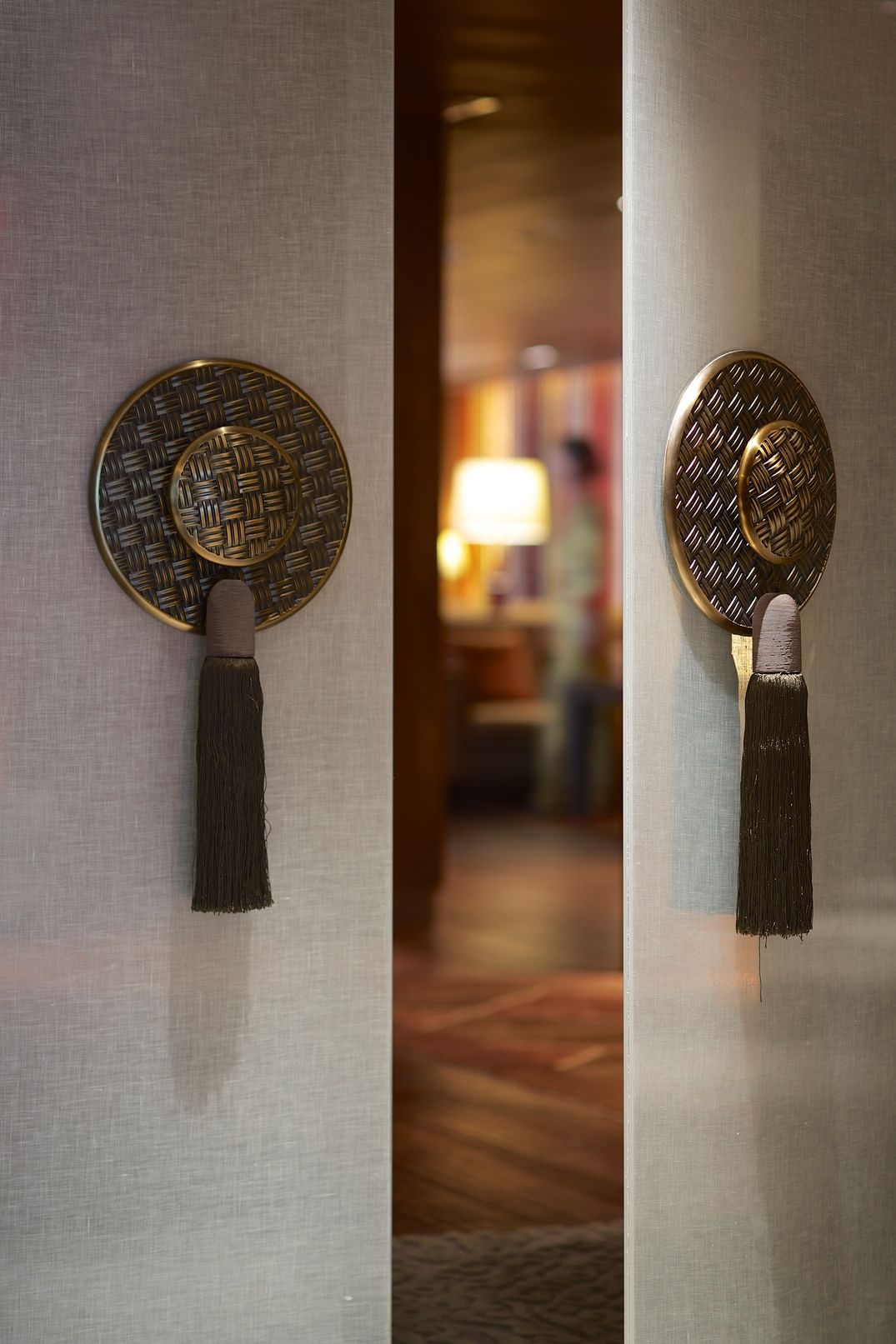 Custom designed door handles at horizon club lounge work - Interior door handles and hinges ...