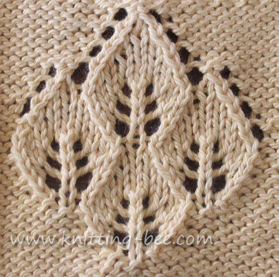 Four Leaf Lace Panel Knit Wonders Pinterest Knitting Knitting