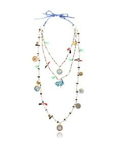 Mercedes Salazar Madonna Charm Necklace, Multicolor