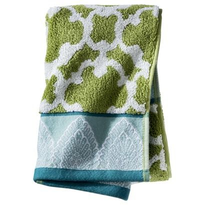 Cute hand towels can spice up your powder room!  Threshold™ Global Medallion Towels $7.99