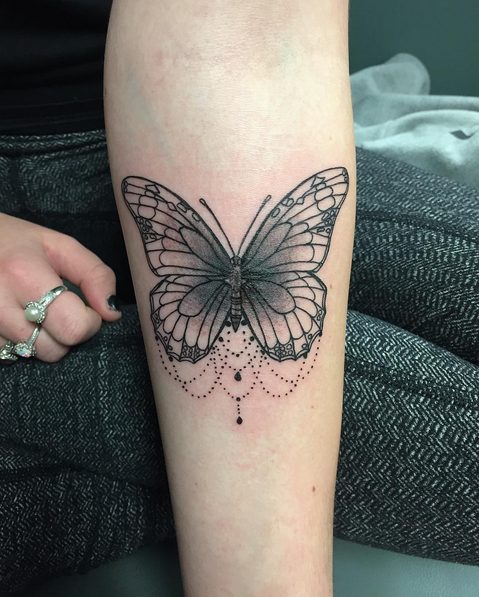 Love This Butterfly Tattoo Yet Needs Some Color Tho Tattoos