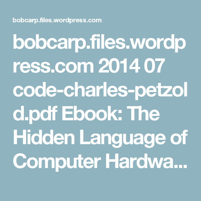 code the hidden language pdf