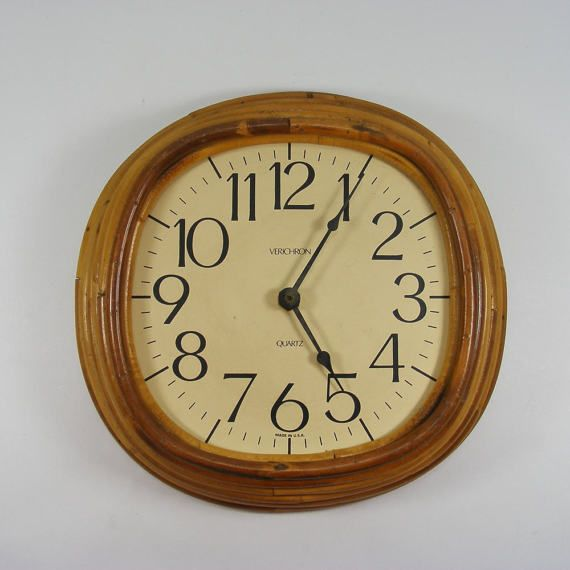 Bamboo Wall Clock Battery Operated Clock Movement Large Number