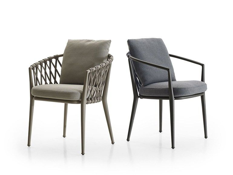 Upholstered Fabric Garden Chair With Armrests Erica Chair By B B Italia Outdoor Outdoor Dining Chairs Outdoor Chairs Restaurant Chairs Design