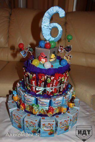 Тортик из сладостей своими руками