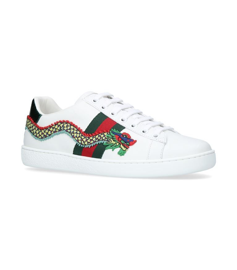 Gucci New Ace Dragon-embellished