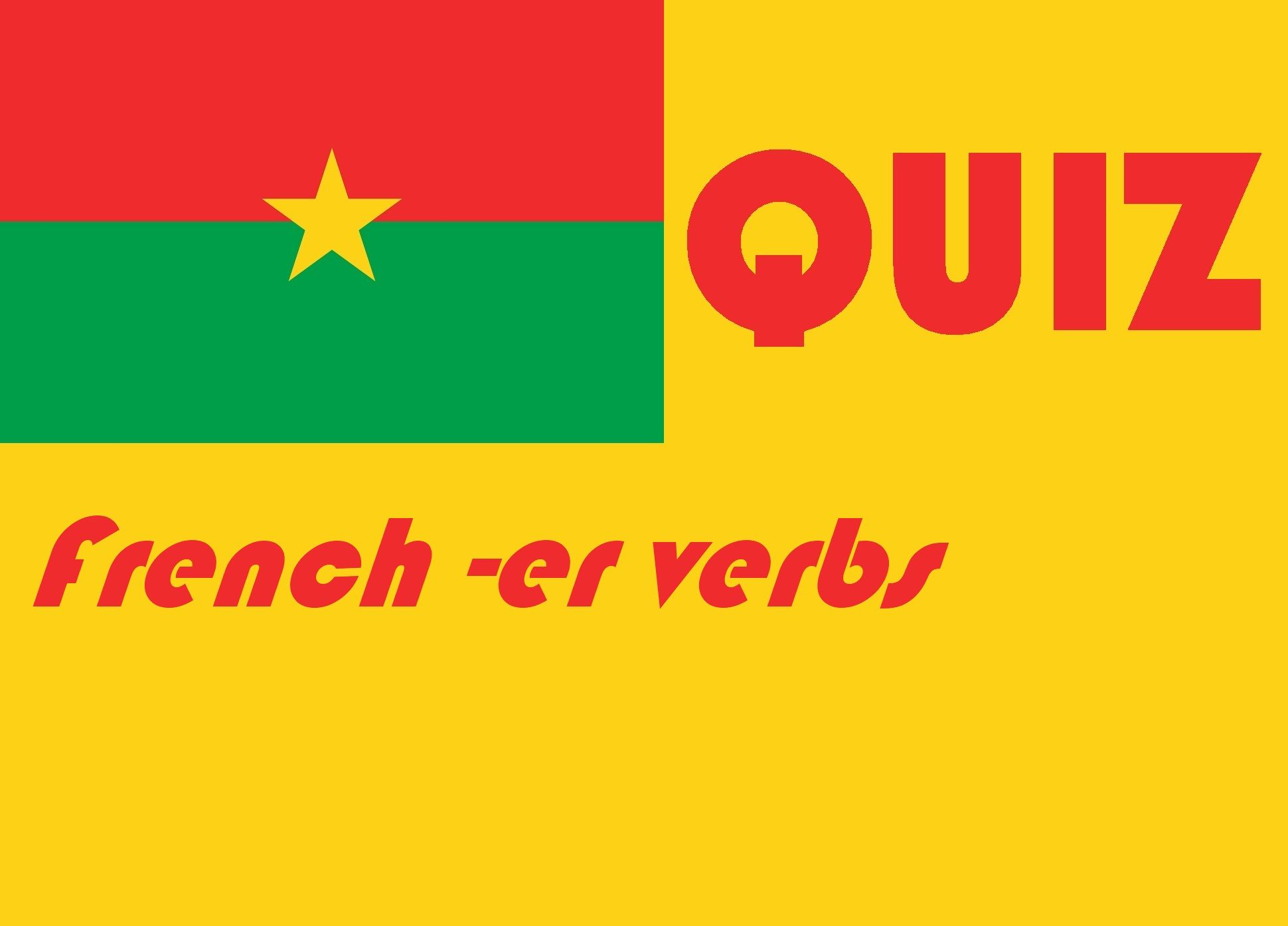 French Regular Er Present Tense Quiz Or Woksheet