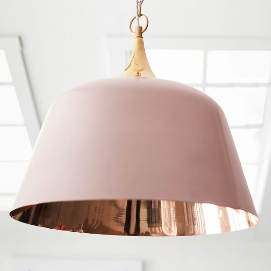 Isabella Rose Taylor Pink Dome Pendant, Rose Gold Interior | Room ...