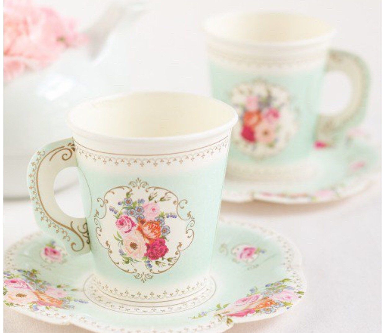 royal wedding disposable tea cups with saucers tea party https