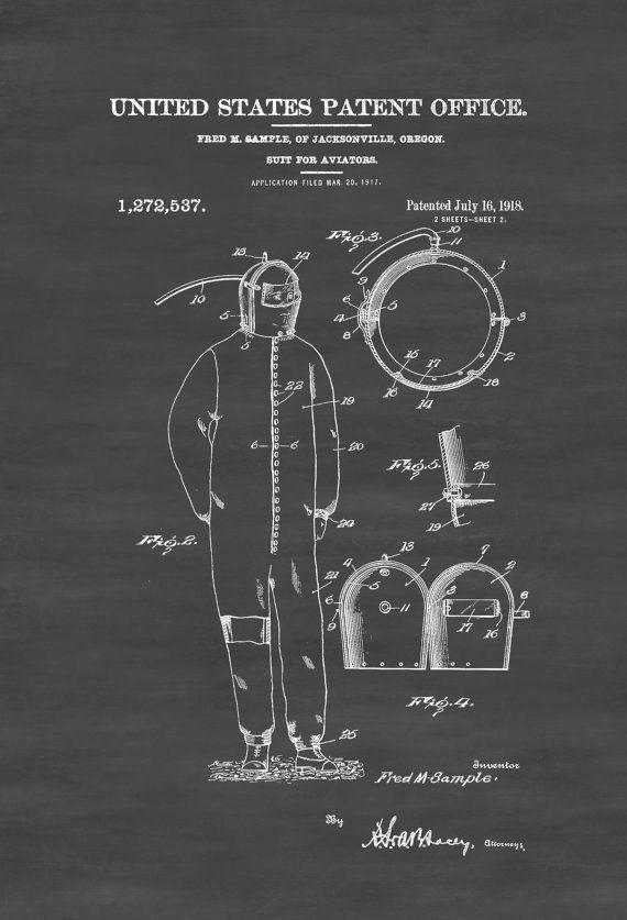 1918 aviator suit patent aviation blueprint vintage aviation art 1918 aviator suit patent aviation blueprint vintage aviation art airplane art pilot gift aircraft decor malvernweather Images