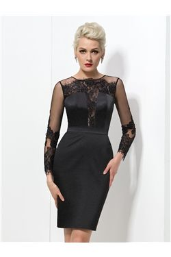 6bb3ad0d9 Knee-Length Glamorous   Dramatic Natural Zipper-up Sheath Column Fall All  Sizes Cocktail Dress