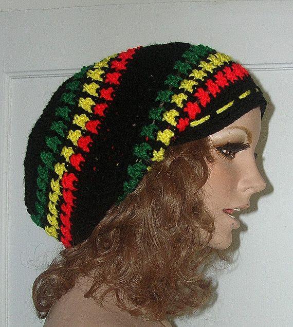 The Marley Crochet Rasta Hat - Hippie - Beret - Slouchy ...