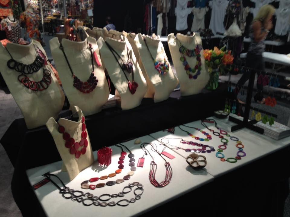 Encanto Jewels' exhibition in San Francisco >> See more Tagua Jewelry: http://www.encantojewels.com/