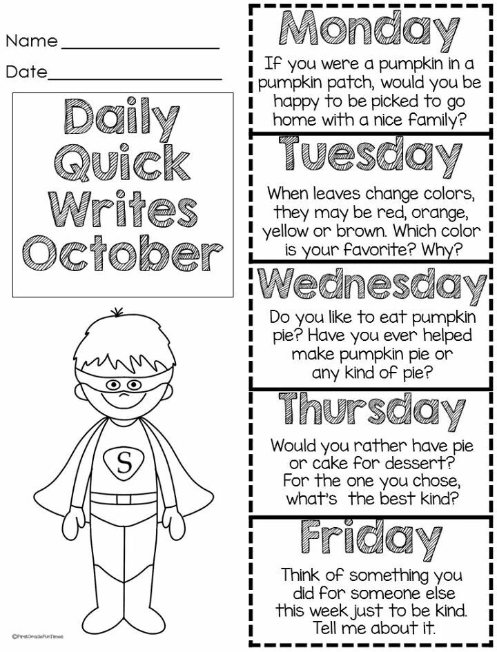 Pin on Writing Ideas for 1st grade