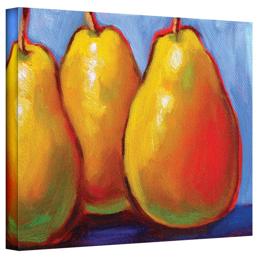 Susi Franco \'Gang of Pears\' Gallery-Wrapped Canvas | Overstock.com ...