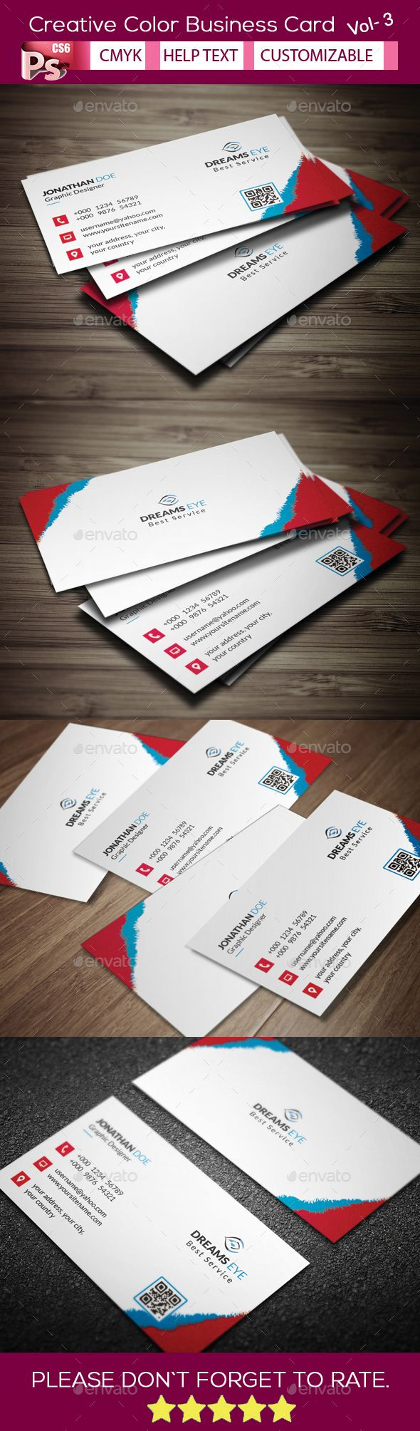 Creative Color Business Card V.3 | Business Card Template Design ...
