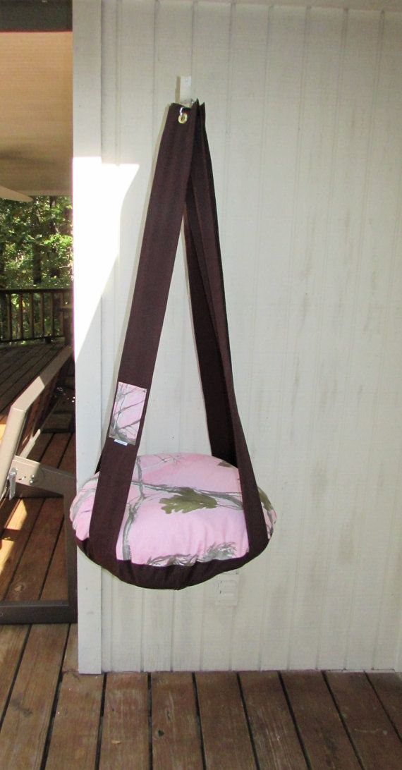 Cat Bed, Pink RealTree Camo & Brown, Single Kitty Cloud,  Hanging Cat Bed, Pet Furniture, Gift