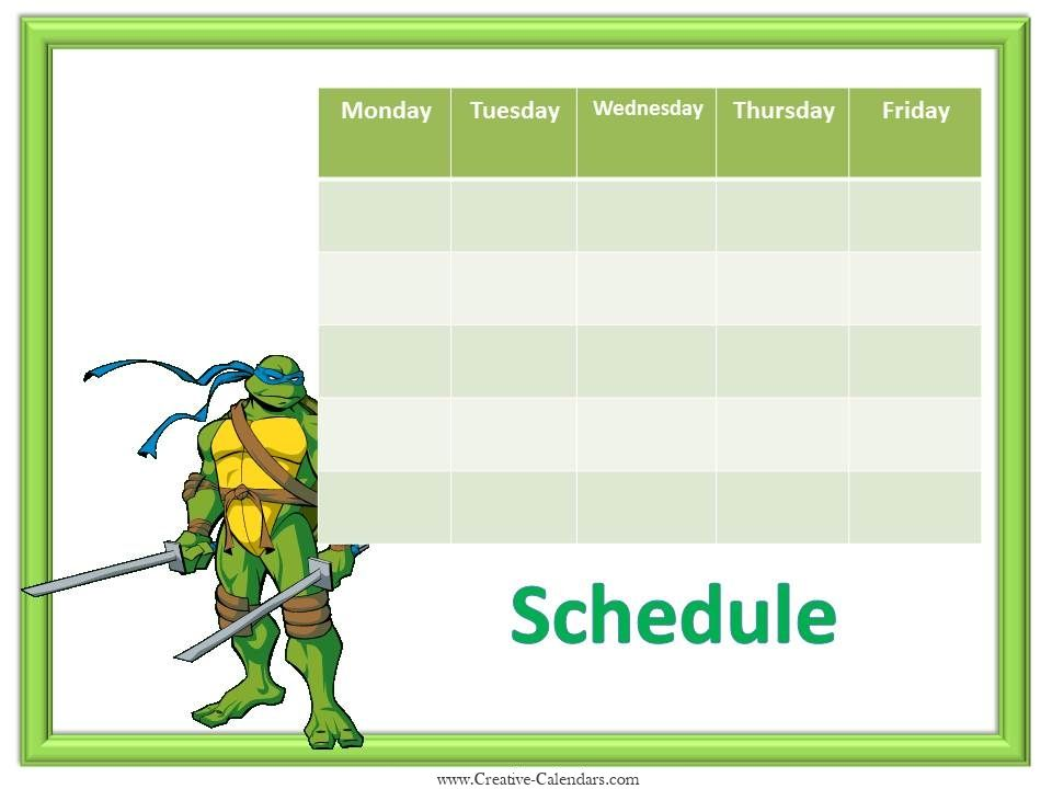 Batman free weekly calendar template Weekly Calendar for Boys - microsoft weekly planner