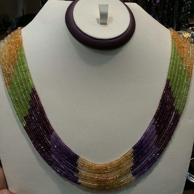 عقد ملون السعر 500ريال Statement Necklace Beaded Necklace Beaded