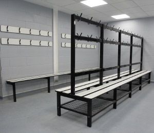 Changing room bench seating from continental sports changing