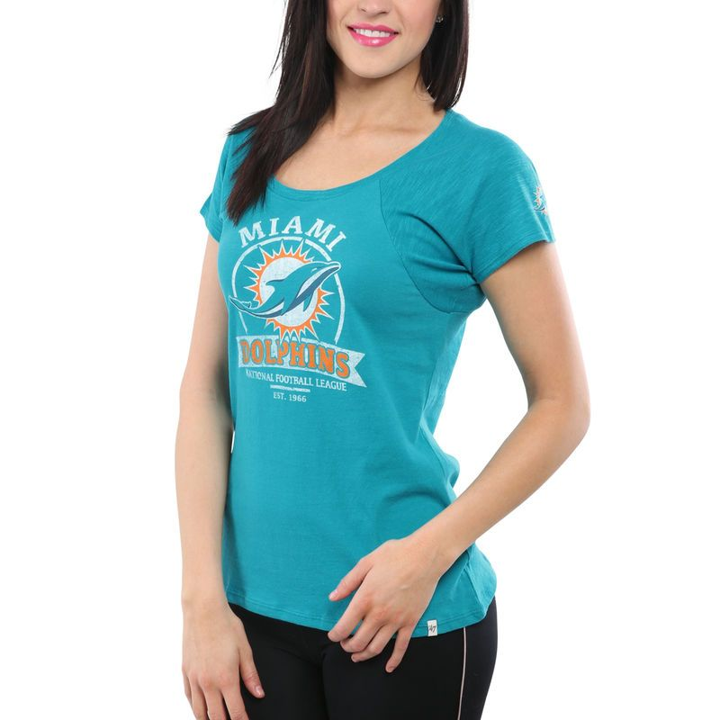 Top 47 Brand Miami Dolphins Women's Big Time T Shirt Aqua | Products  supplier