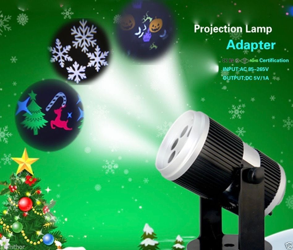 LED Halloween Bunt Strahler Projektor Beleuchtung Wohnzimmer Mobile 4 Motive