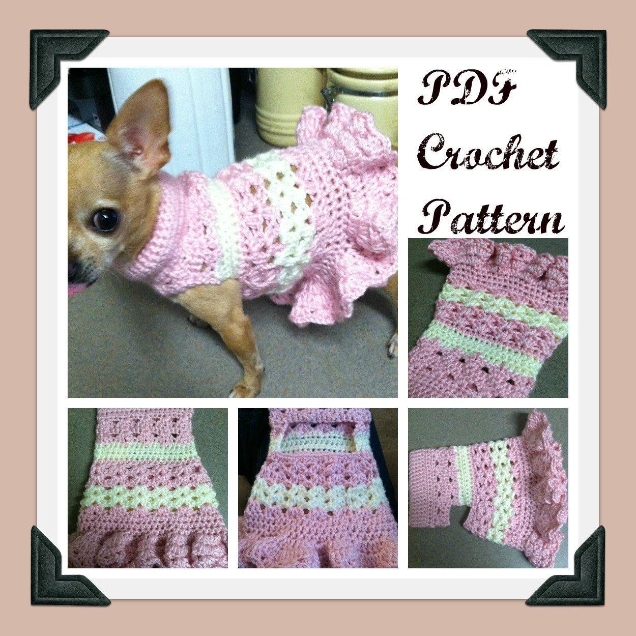 PDF Crochet PATTERN - Littlest Bo Peep Crochet Dog Dress. $4.99, via ...