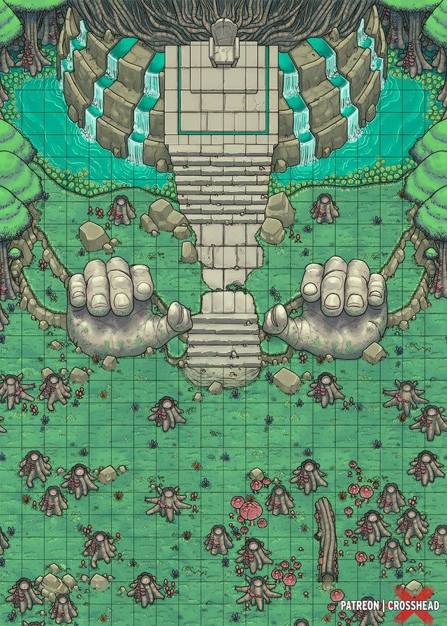 [OC][Art] Ancient Ruins (26x26) Dungeons_and_Dragons in