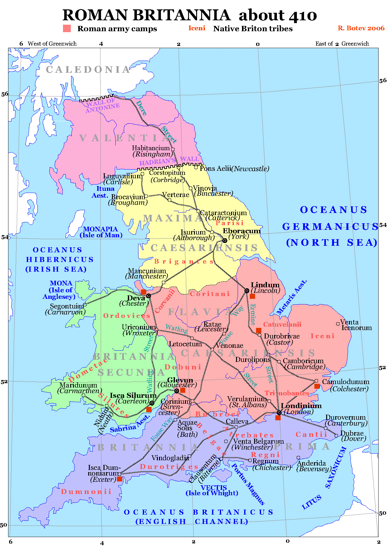 Roman Map Of Britain Roman Britain 410   Mapsof.| History | Roman britain, Britain  Roman Map Of Britain