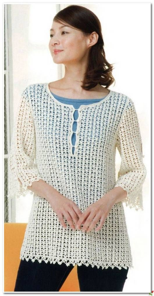 Shirt openwork crochet .. Discussion on LiveInternet - Russian ...