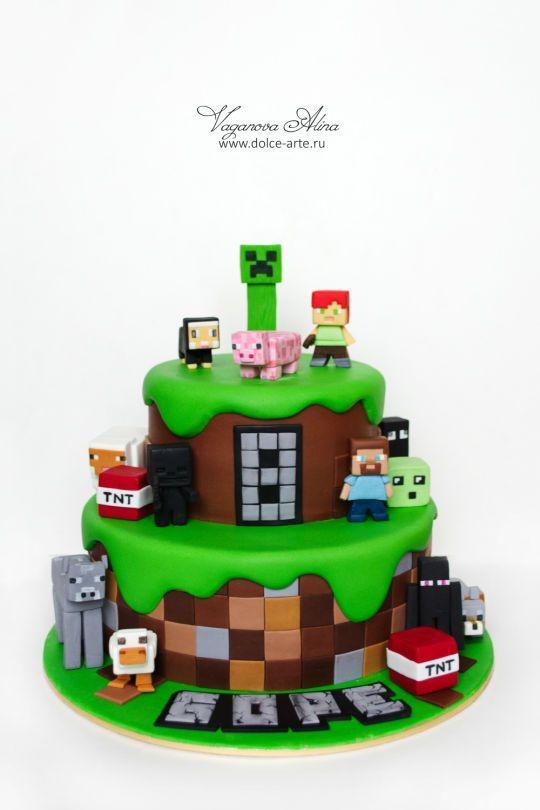 Minecraft Cake Ideas Inspirations Minecraft Pinterest