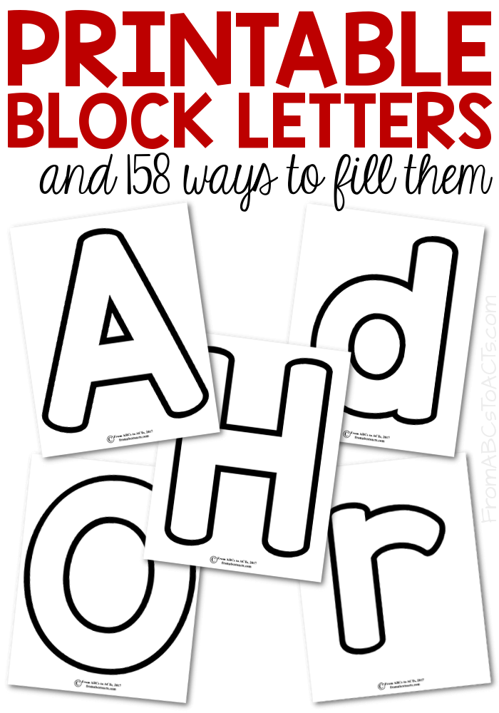 Printable Block Letters And  Ways To Fill Them  Block