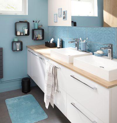 Peinture salle de bain  les couleurs tendance Toilet - peindre le carrelage sol