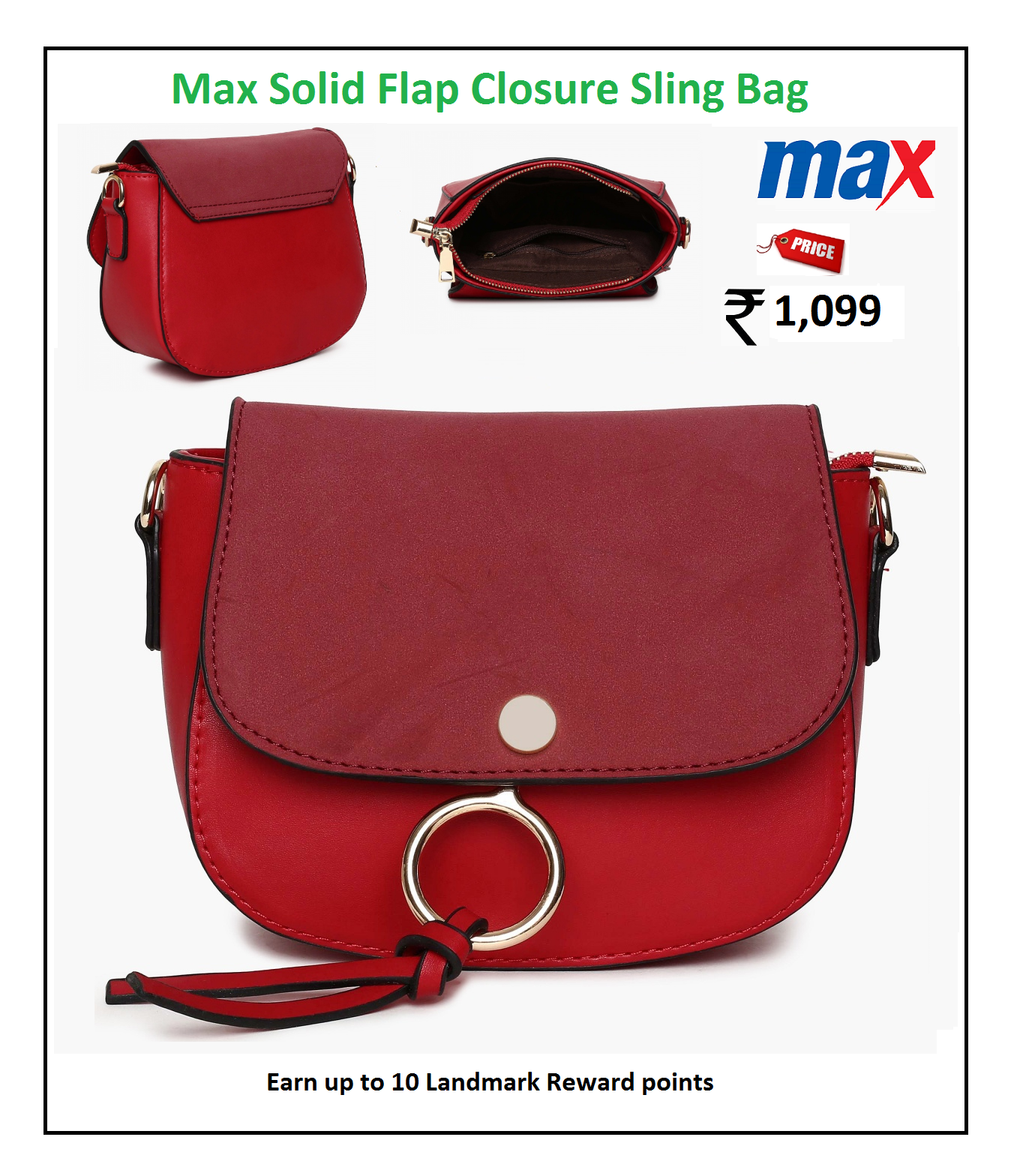 MAX Solid Flap Closure Sling Bag   Ladies Handbags   Pinterest 13353a0a04