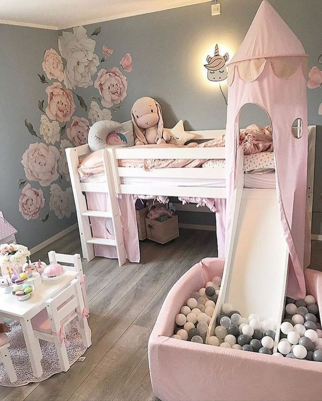 39+ Using Little Girls Room #toddlerrooms Adhere to a design style that you will love, but in addition one which can help make your room feel larger. Decorating a kid's room can be fun, partic... #kidsrooms